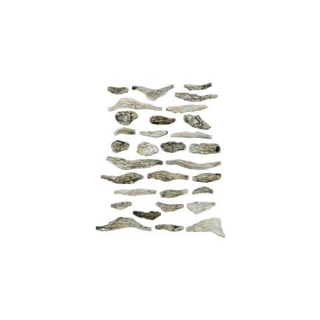 Rocas prefabricadas de yeso y pintados a mano, Ref: C1141