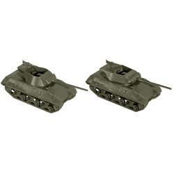 Dos tanques M36 Jackson, USA, Kit M., Escala 1/87, Minitank-Roco, Ref: 05038.