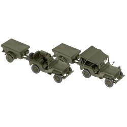 Willys jeep + M 100, USA, Kit M., Escala 1/87, Minitank-Roco, Ref: 05045.