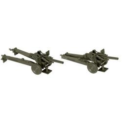Dos Cañones medios M114, USA, Kit M., Escala 1/87, Minitank-Roco, Ref: 05079.