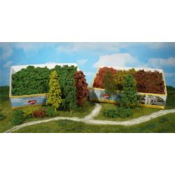 Surtido de 15 arbustos de hoja caduca, color verde natural, Marca Heki, Ref: 1630.