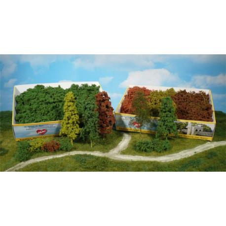 Surtido de 15 arbustos de hoja caduca, color verde claro, Marca Heki, Ref: 1631.