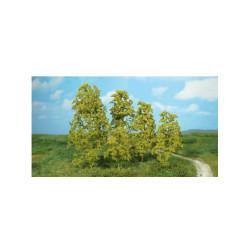 Surtido de 12 arbustos creativos, color verde natural, Marca Heki, Ref: 1640.