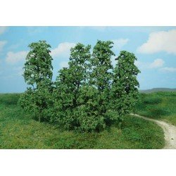 Surtido de 12 arbustos creativos, color verde oscuro, Marca Heki, Ref: 1642.