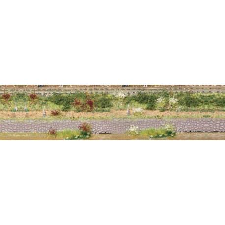 Lote de 100 matojos de hierba blancos y granates, Marca Heki, Ref: 1805.