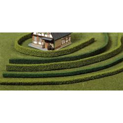 Lote de 3 setos flexibles de 14 mm de alto, Verde Oscuro, Marca Heki, Ref: 1187.