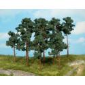 Lote de 14 pinos de 10 y 16 cm de medida, Valido para varias escalas, Marca Heki, Ref: 1413.