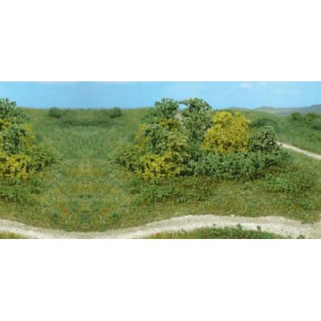 Lote de 20 arbustos, Verde natural, Marca Heki, Ref: 1646.