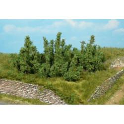 Surtido de 10 arbustos creativos 3 cm, color verde medio, Marca Heki, Ref: 1725.