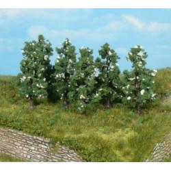 Surtido de 6 Perales verde y blanco, 6 cm, Marca Heki, Ref: 1172.