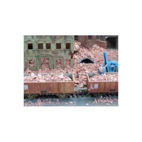 Escombros de Ladrillo con Tono Rojo. 25 gramos. Escala 1/87. Marca Juweela. Ref: 28125.