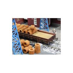 Rollos de Alambre oxidado. Caja de 30 piezas. Escala 1/87. Marca Juweela. Ref: 28141.