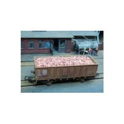 Ladrillos en Tono Rojo Mixto. 3000 unidades. Escala 1/87. Marca Juweela. Ref: 28031.