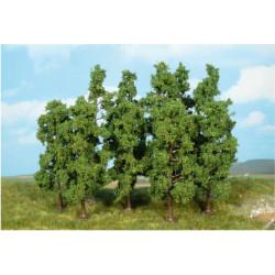 Surtido de 10 arbustos creativos, color verde oscuro, Marca Heki, Ref: 1925.