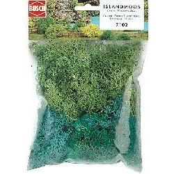 Líquenes de Islandia, Color verde claro y  verde oscuro, 35 g,  Marca Busch, Ref: 7102.