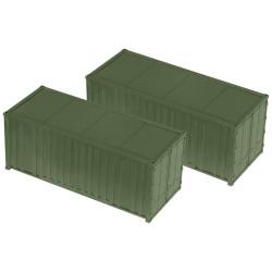 Pareja de contenedores de 20 Pies, Escala 1/87, Minitank-Roco, Ref: 05100.
