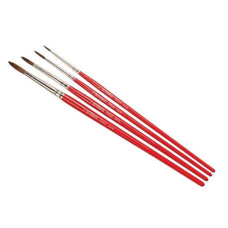 Set de 4 Pinceles punta redonda ( 0/2/4/6 ). Marca Humbrol. Ref: AG4150.