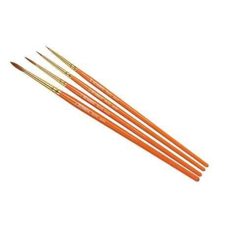 Set de 4 Pinceles punta redonda ( 000/0/2/4 ). Marca Humbrol. Ref: AG4250.