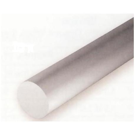 Conjunto de 4 Varillas Blancas de Estireno, Diametro 3,20 mm, 350 mm. Marca Evergreen. Ref: 214.