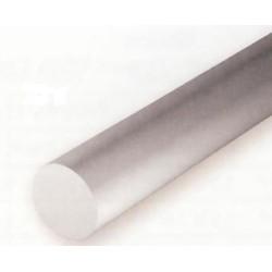 Conjunto de 7 Varillas Blancas de Estireno, Diametro Surtido, 350 mm. Marca Evergreen. Ref: 217.