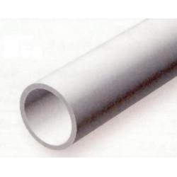 Conjunto de 6 Tubos Redondos Huecos de Estireno, Diametro Ext. 2,40 mm, 350 mm. Marca Evergreen. Ref: 223.