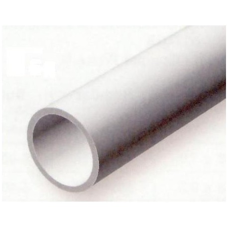 Conjunto de 2 Tubos Redondos Huecos de Estireno, Diametro Ext. 9,50 mm, 350 mm. Marca Evergreen. Ref: 232