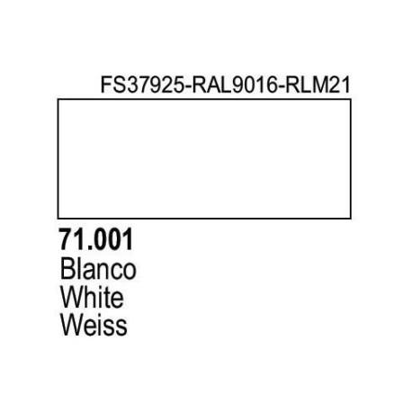 Acrilico Model Air Blanco. Bote 17 ml. Marca Vallejo. Ref: 71.001.