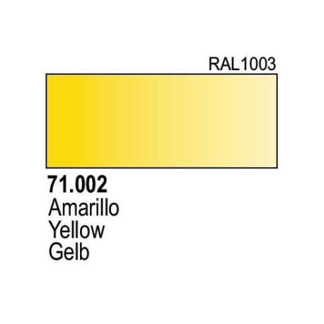 Acrilico Model Air Amarillo Medio. Bote 17 ml. Marca Vallejo. Ref: 71.002.