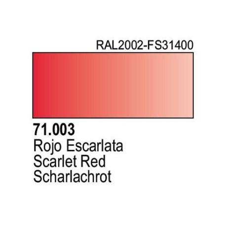 Acrilico Model Air Rojo Escarlata. Bote 17 ml. Marca Vallejo. Ref: 71.003.