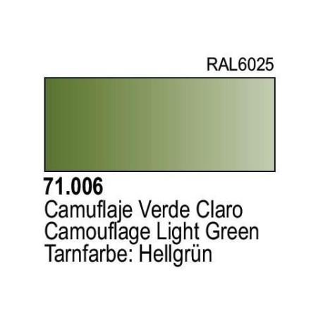 Acrilico Model Air Camuflaje Verde Claro. Bote 17 ml. Marca Vallejo. Ref: 71.006.