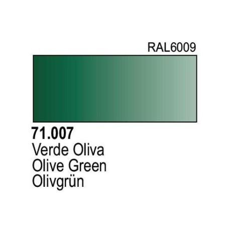 Acrilico Model Air  Verde Oliva. Bote 17 ml. Marca Vallejo. Ref: 71.007.