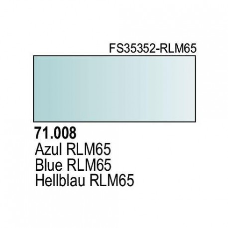 Acrilico Model Air Hellblau RLM65. Bote 17 ml. Marca Vallejo. Ref: 71.008