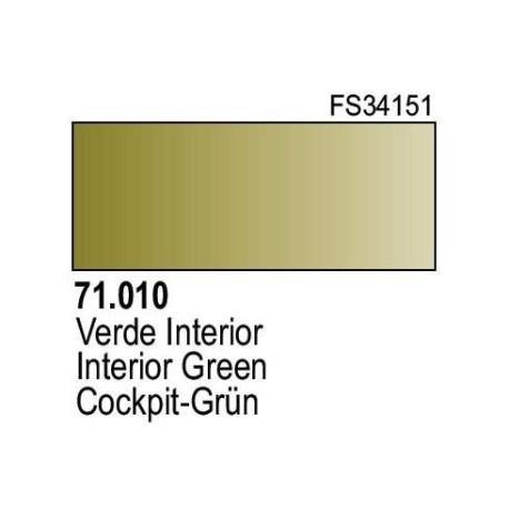 Acrilico Model Air Verde Interior. Bote 17 ml. Marca Vallejo. Ref: 71.010.