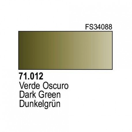 Acrilico Model Air Verde Oscuro. Bote 17 ml. Marca Vallejo. Ref: 71.012.