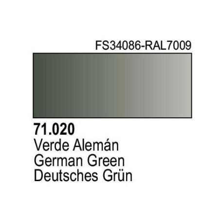 Acrilico Model Air Verde Aleman. Bote 17 ml. Marca Vallejo. Ref: 71.020.