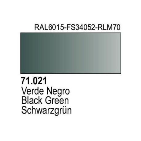 Acrilico Model Air Schwarzgrün RLM70. Bote 17 ml. Marca Vallejo. Ref: 71.021.