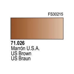 Acrilico Model Air Marron USA. Bote 17 ml. Marca Vallejo. Ref: 71.026.