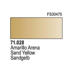 Acrilico Model Air Amarillo Arena. Bote 17 ml. Marca Vallejo. Ref: 71.028.