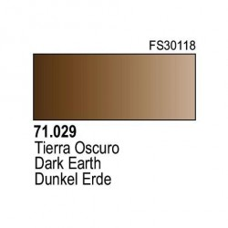 Acrilico Model Air Tierra Oscura. Bote 17 ml. Marca Vallejo. Ref: 71.029.