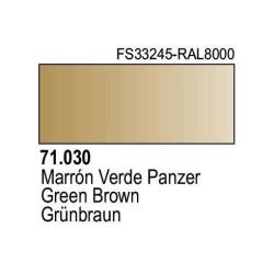 Acrilico Model Air Marron Verde Panzer. Bote 17 ml. Marca Vallejo. Ref: 71.030.