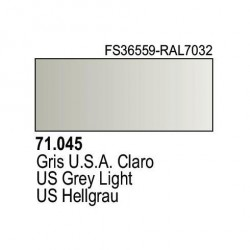 Acrilico Model Air Gris USA Claro. Bote 17 ml. Marca Vallejo. Ref: 71.045.