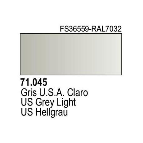 Acrilico Model Air Gris USA Claro. Bote 17 ml. Marca Vallejo. Ref: 71.045.