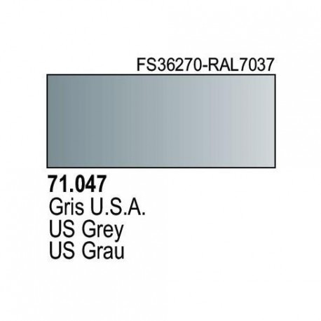 Acrilico Model Air Gris USA. Bote 17 ml. Marca Vallejo. Ref: 71.047.