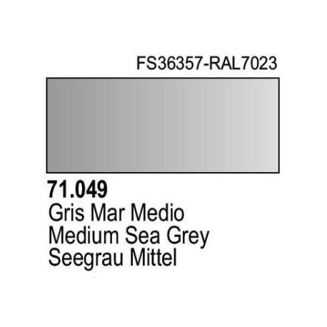 Acrilico Model Air Gris Mar Medio. Bote 17 ml. Marca Vallejo. Ref: 71.049.