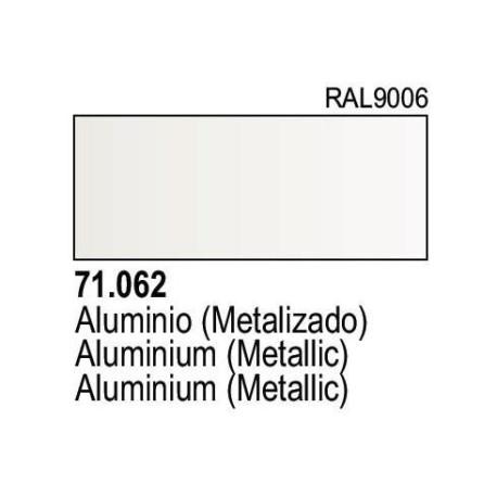 Acrilico Model Air Aluminio Metalizado. Bote 17 ml. Marca Vallejo. Ref: 71.062.