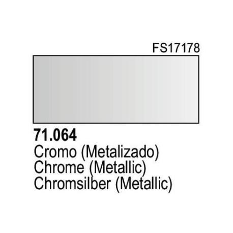 Acrilico Model Air Cromo Metalizado. Bote 17 ml. Marca Vallejo. Ref: 71.064.