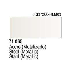 Acrilico Model Air Acero Metalizado. Bote 17 ml. Marca Vallejo. Ref: 71.065.