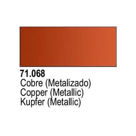 Acrilico Model Air Cobre Metalizado. Bote 17 ml. Marca Vallejo. Ref: 71.068.