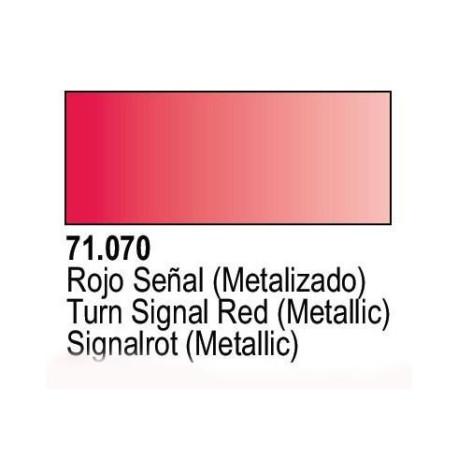 Acrilico Model Air Rojo Señal Metalizado. Bote 17 ml. Marca Vallejo. Ref: 71.070.