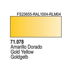 Acrilico Model Air Gelb RLM04. Bote 17 ml. Marca Vallejo. Ref: 71.078.